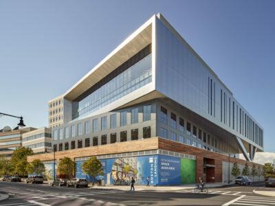 Three-story modern building in Boston